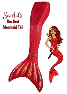 Swimmable Mermaid Tail in Rio Red from Fin Fun Mermaid. Start living your dream today and become the mermaid you always knew you were!