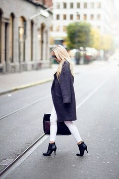 white jeans, black booties
