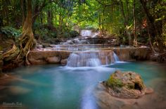 Emerald Pool by Alexander Riek - The Huay Mae Khamin Falls in the West of Thailand, close to the border with Myanmar.