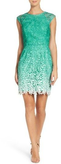 Women's Adelyn Rae Ombre Lace Sheath Summer Dress