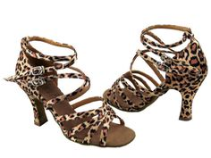 5008-Leopard-Leather-Salsa-Ballroom-Latin-Tango-Dance-Shoes-2-5-3-Very-fine