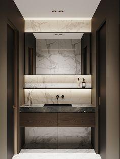 Moscow Ap on Behance eckbadewanne, Bathroom Lighting Design, Washroom Design, Bathroom Design Luxury, Home Interior Design, Bad Inspiration, Bathroom Design Inspiration, Lavabo Exterior, Design Hall, Toilette Design