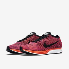 pretty nice ace9a 33104 Nike Flyknit Racer Running Shoes Training New Men s Size 13 Acai Berry  Orange DS Nike Flyknit