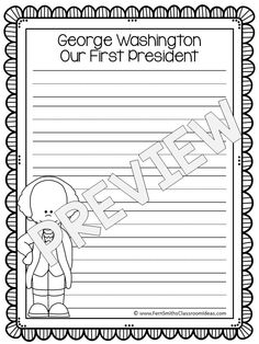 FREE Presidents Day Writing Center Printables #FREE #TPT