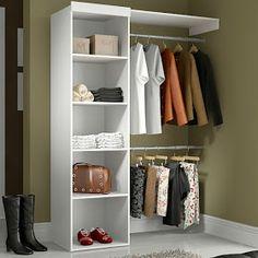 Apê em Decoração: Como montar um Closet ? Small Bedroom Wardrobe, Built In Wardrobe, Small Room Bedroom, Closet Bedroom, Bedroom Decor, Closet Tour, Walk In Closet, Wooden Closet, Beautiful Closets