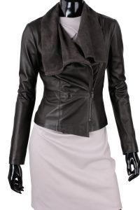 Kurtka skórzana damska DORJAN LEN017 Leather Jacket, Jackets, Collection, Fashion, Fotografia, Studded Leather Jacket, Down Jackets, Moda, Leather Jackets