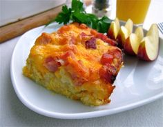 Easy Breakfast Casserole with Potatoes and Ham | The Food Charlatan