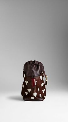 The Little Crush in Heart Print Calfskin and Leather | Burberry