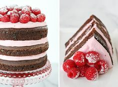 Top your chocolate cake with raspberry buttercream.