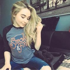Sabrina carpenter smoke and fire shirt
