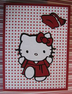 Cricut Hello Kitty Graduation Card.  *