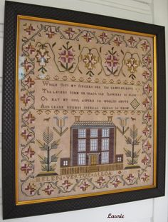 Helen Vertue - The Scarlet Letter  I have this chart...just need the time to stitch it!