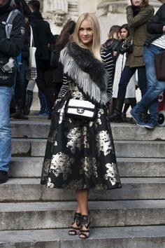 Street fashion: Paris Fashion Week jesień-zima 2014/2015, fot. Imaxtree