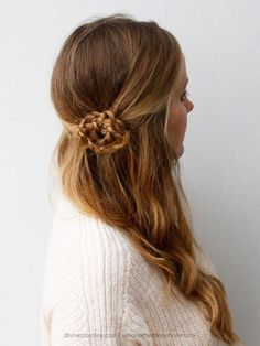 Picking between an updo and wearing your hair down can be a tough decision: here's a look that's a good mix of both. #Prom #Hairstyles