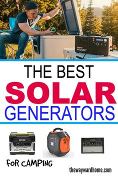 Solar generators are a great way to power your devices when camping off-the-grid. Great for people who don't want to set up an elaborate electrical system inside their vehicle. Portable solar generator are light enough to carry around, so you can run your fridge right from camp. #thewaywardhome #camping #camp #campinghacks #campervan #vanlife #van #camper  via @thewaywardhome