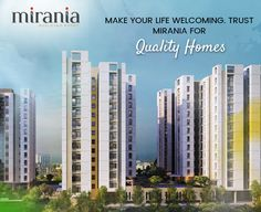 Make your life welcoming. Trust Mirania for quality Homes #RealEstateKolkata