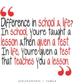 Quotes - life teaches you a lesson - words - motivational   #quotes