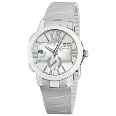 Ulysse Nardin Women`s 243103/391 Executive Dual Time Mother of Pearl Diamond Dial Watch $8,995.00