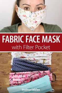 Face Mask Pattern with Pocket. 27 Face Mask Pattern with Pocket Free Printable. How to Sew A Fabric Face Mask with Filter Pocket Elastic Easy Face Masks, Homemade Face Masks, Diy Face Mask, Pocket Pattern, Making Faces, Diy Mask, Rubber Bands, Crafts To Sell, Easy Crafts
