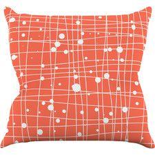 Woven Web Cotton Throw Pillow