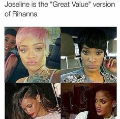 Lol funny but actually she's not a version on Rihanna period