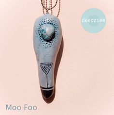 Moo Foo  / pendant / necklace / wood / stone  www.facebook.com/deepzsee