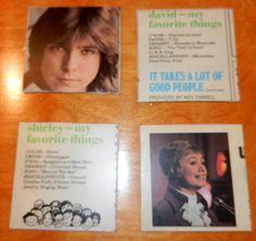 David Cassidy and Shirley Jones coasters- set of 4  etsy