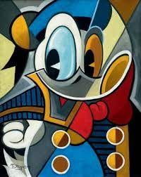 Disney's Donald Duck Cubism
