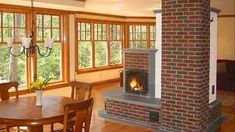 Fixes (that don't require starting over) Custom masonry heaters by New England Hearth and Soapstone can be made to fit any room's style.Custom masonry heaters by New England Hearth and Soapstone can be made to fit any room's style. Cordwood Homes, Mission Style Homes, Brick Masonry, Cabin Homes, Eco Homes, Craftsman Bungalows, Wood Burner, Modern Buildings, Fashion Room
