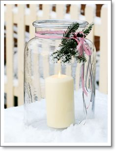 New Years Eve Party Table Centerpieces, Creative Winter Holiday Decorating Noel Christmas, Christmas Candles, Pink Christmas, All Things Christmas, Winter Christmas, Vintage Christmas, Christmas Decorations, Christmas Crafts, Xmas
