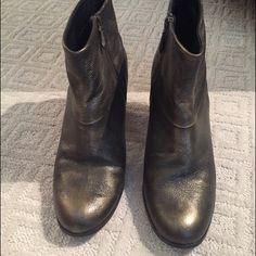 Cole Haan metallic booties Cole Haan metallic booties, size 10. Like new. Cole Haan Shoes Ankle Boots & Booties