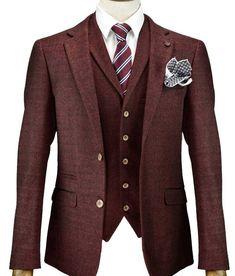 Men/'s Cavani Peaky Blinders Designer Tweed Blazer Check Archie Jacket