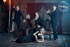 See all the photos from EW's cover shoot with 'Supernatural' stars Jared Padalecki, Jensen Ackles, Misha Collins, Samantha Smith, and Jeffrey Dean Morgan. Supernatural Star, Supernatural Bloopers, Supernatural Tattoo, Supernatural Wallpaper, Supernatural Quotes, Supernatural Seasons, Supernatural Bunker, Castiel, Mary Winchester