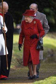 Good morning! A sprightly looking Queen, who has opted to drive to the St Mary Magdalene Church on the Sandringham estate in recent weeks, looked sure of foot as she bid hello to clergy