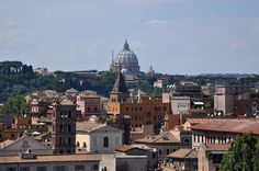 The Terrace atop the Castel St. Angelo, Rome, Italy