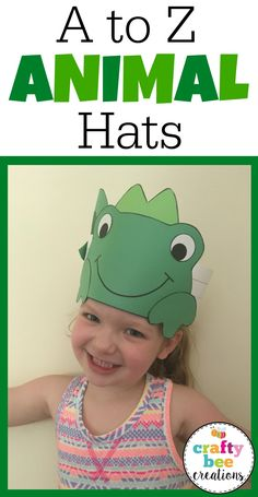 These A to Z Animal Hats are a really hit in the classroom!  Students will enjoy making these easy hats while learning about the alphabet.  Patterns are easy to use and can be copied directly on construction paper or traced onto card stock and used as tracers.