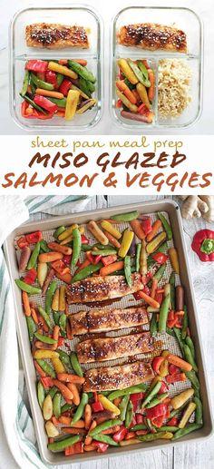 Sheet Pan Miso Glazed Salmon