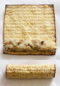 "rolling Matzah Potato ""Knishes"""