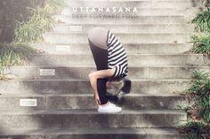 Uttanasana - Deep Forward Fold |by JuYogi
