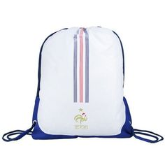 adidas France White World Cup 2010 Drawstring Backpack by adidas. $19.95. Double-reinforced bottom corners. Water resistant nylon shell. Drawstring closure. Screen print graphics. Team logo and colors. Haul your gear in style with this France 2010 World Cup drawstring backpack by adidas featuring durable, reinforced construction for resistance to every day wear and tear!Screen print graphicsWater resistant nylon shellDouble-reinforced bottom cornersDrawstring closureTe...