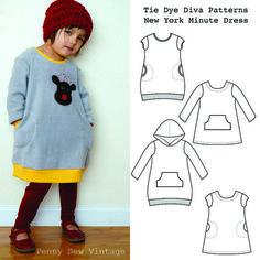 Dress pattern for fleece! New York Minute Dress sewing pattern by Tie Dye Diva.