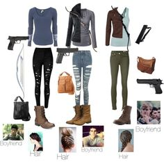 The Maze Runner inspired outfits by statice-pearl on Polyvore featuring Free People, Miss Selfridge, rag & bone/JEAN, Topshop, American Rag Cie, Charlotte Russe, Ropin West, Smith & Wesson, Friedman and Bow & Arrow