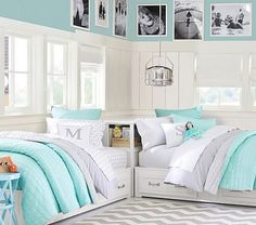 Twin bedroom ideas camera teen girl bedrooms teen shared bedroom bedroom for twins twin bedroom ideas Small Room Bedroom, Small Rooms, Bedroom Decor, Kids Rooms, Small Spaces, Bedroom Curtains, Small Shared Bedroom, Bedroom Furniture, Twin Room