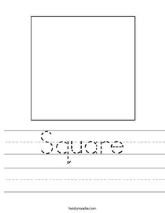 Square Worksheet from TwistyNoodle.com