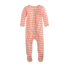 Baby footed one-piece in stripe - jcrew baby - shop_by_brand - J.Crew