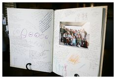 our book of thanks- every year at Thanksgiving we take a picture and have everyone write what they are thankful for.  it's such a special keepsake.