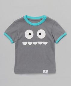 Another great find on #zulily! Gray & Blue Silly Monster Tee - Infant & Toddler #zulilyfinds