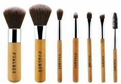 Mini Bamboo Makeup Brush Set