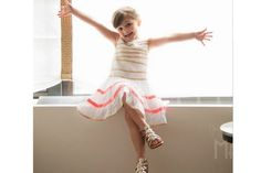 So cool! The new line of J Crew kids clothes by Mayhem, the little girl on Instagram who makes all those fabulous dresses with her mom.