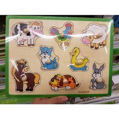 Puzzle en bois a bouton - animaux